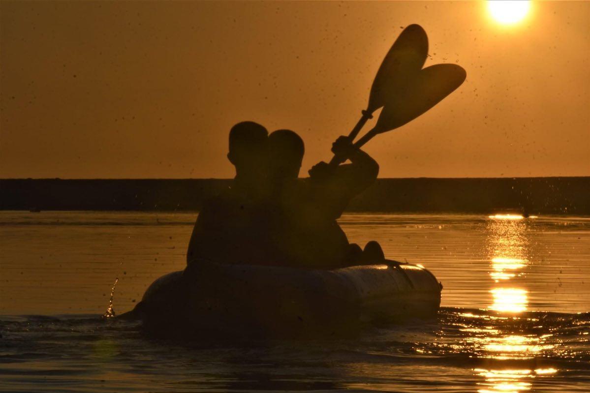 Sunset in bistrica river,Saranda